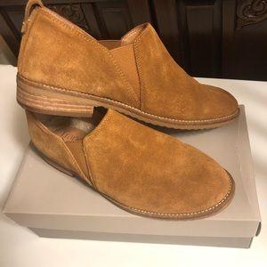 Franco Sarto Suede slip on loafers